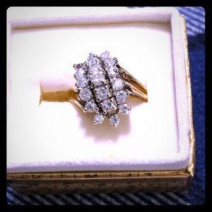 Jewelry - 10k DIAMOND WATERFALL RING